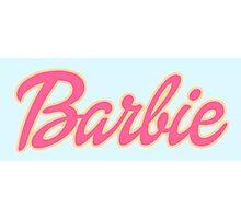 Barbie Logo Photographic Print