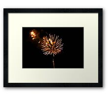 Happy Welcome New Year Framed Print