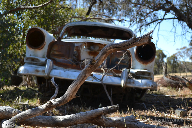 Broken Down Ute by David Wanden