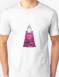 The Katy Bag / Black & Fuchsia Fantasy Zebra T-Shirt