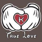 TRUE LOVE - INITIALS - K by mcdba