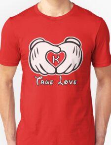 TRUE LOVE - INITIALS - K T-Shirt