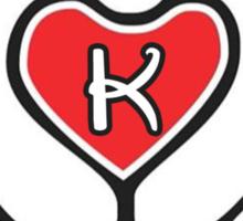 TRUE LOVE - INITIALS - K Sticker