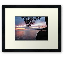 Sunset Dreams at  Lake CatchaComa 3-Available As Art Prints-Mugs,Cases,Duvets,T Shirts,Stickers,etc Framed Print