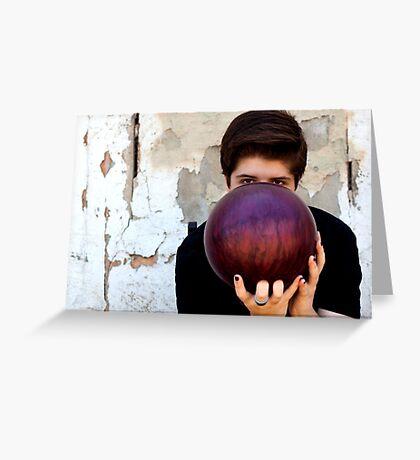 Bowling ball Greeting Card