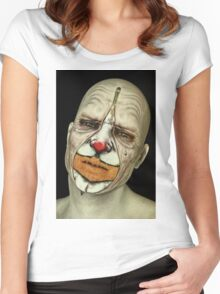 Behind The Mask - The Tears of a Clown Women's Fitted Scoop T-Shirt