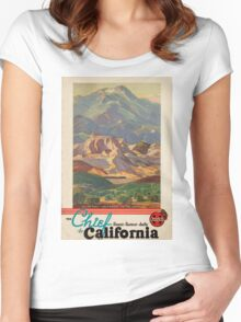 Vintage poster - California Women's Fitted Scoop T-Shirt