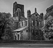 Kirkstall Abbey (B&W) by Tim Waters
