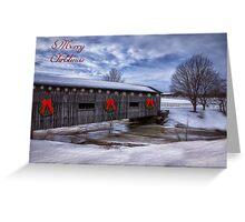 Merry Christmas  Covered Bridge Greeting Card