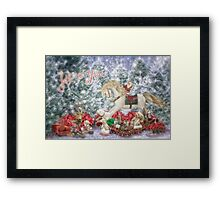Holiday Rocking horse and toys..... Framed Print
