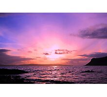 Pink sunset Isle of Syke Photographic Print