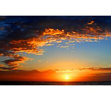 dawn glow sunrise Photographic Print