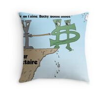 Euroman et Yen pousser Bucky du falaise fiscale Throw Pillow