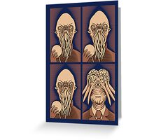 Ood One Out - Dalek Greeting Card