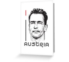 I LOVE AUSTRIA T-shirt Greeting Card