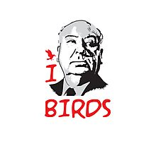 I LOVE BIRDS T-shirt Photographic Print