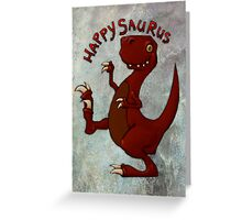 A very happy dinosaur Greeting Card