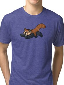 Red Panda leaping Tri-blend T-Shirt