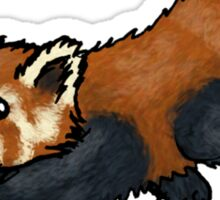 Red Panda leaping Sticker