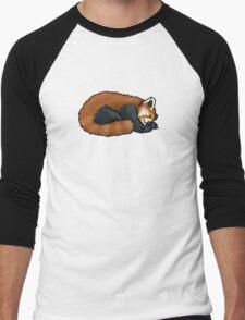 Red Panda sleeping Men's Baseball ¾ T-Shirt