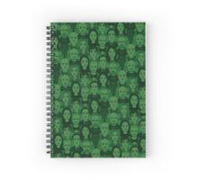 Breaking Bad Characters - Dark Green Spiral Notebook