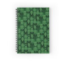 Breaking Bad Characters - Dark Green Spiral Notebook