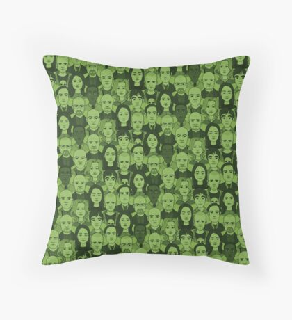 Breaking Bad Characters - Lime Green Throw Pillow