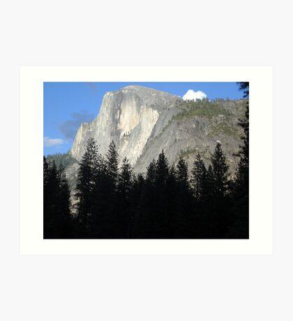 Half Dome Glowing in Yosemite Art Print