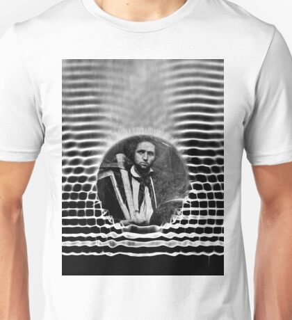 Miner in Interference Pattern Unisex T-Shirt