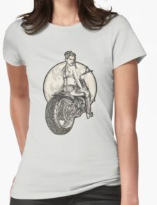 Retro Motorcycle Pinup Girl T-Shirts and Hoodies T-Shirt