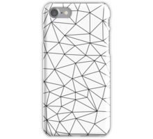 White Abstract Lines iPhone Case/Skin
