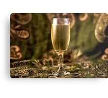 Still Life - Champagne & Green 2 Metal Print