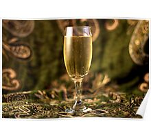 Still Life - Champagne & Green 2 Poster