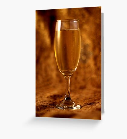 Still Life - Champagne & Gold Greeting Card