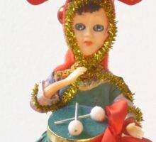 Doll Christmas ornament, little drummer girl Sticker