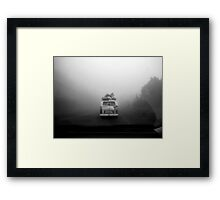 Van in Fog Framed Print