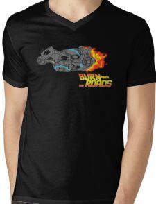 Burn the Roads Mens V-Neck T-Shirt