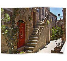 Steps in Pitigliano Poster
