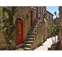 Steps in Pitigliano Photographic Print