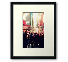 Times Square for the First Time Framed Print