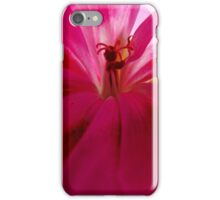Pink Geranium Close-up iPhone Case/Skin