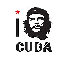 I LOVE CUBA T-shirt Photographic Print