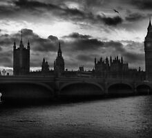 Westminster Bridge, London, At Dusk by EdPettitt
