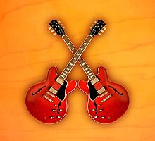 gibson es 335 red  v1 art by goodmusic