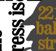the name is sherlock holmes and the address is 221 b baker street /canon version Sticker