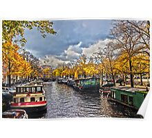 Amsterdam Prinsengracht HDR Poster
