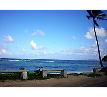 Hawaiian Beach with Brilliant Blue Skies Photographic Print
