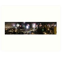 A Swede's view of 2012 New Year's Eve Art Print