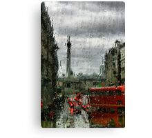 Rainy Days in London Photography Canvas Print