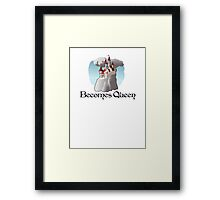 FAIRY TALE magical becomes Queen castle tee   Framed Print